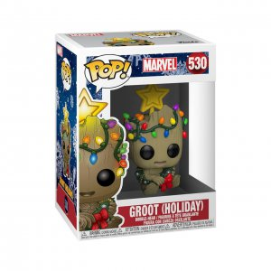 בובת פופ Funko POP! Marvel : Groot (Holiday)